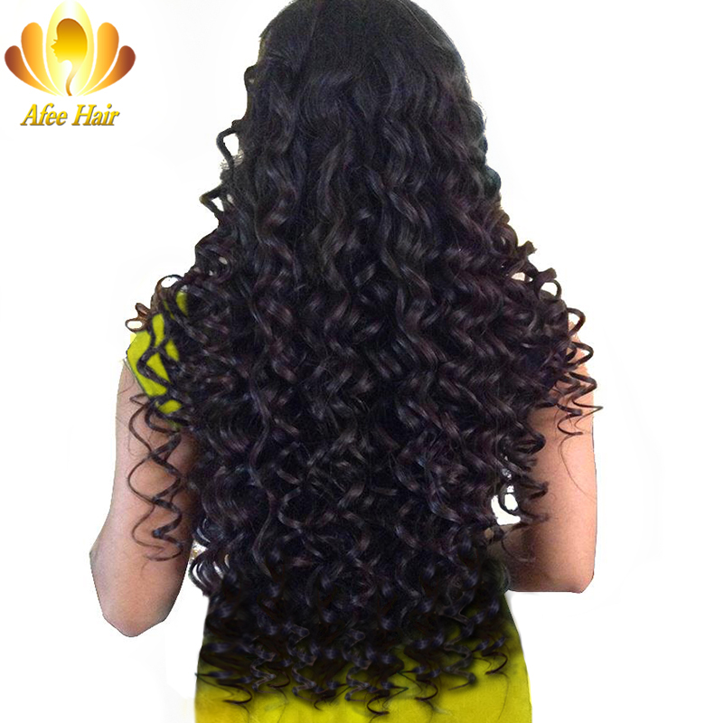 Ali Afee Hair Malaysian Deep Wave 1 Pc 100 Human Hair Extension Natural Black Non Remy