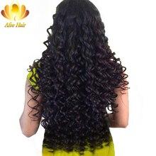 Али afee волос Малайзии глубокая волна 1 шт. 100% человеческих Наращивание волос натуральный черный номера Волосы Remy Комплект могут быть окрашены и рестайлинг