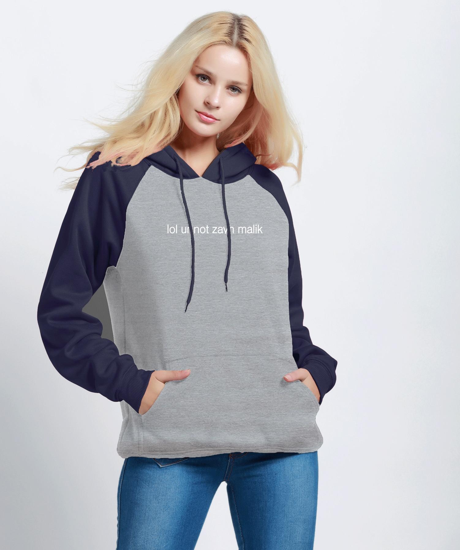 Responsible 2019 Autumn Winter Fleece Hoodies For Women Letter Print Lol Ur Not Zayn Malik Casual Women's Sportswear Sweatshirts Tracksuits Volume Large
