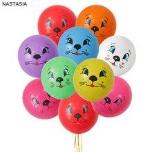NASTASIA 10 шт./лот Печатный латексный баллон с мультяшным котом 12 дюймов 2,8 г вечерние принадлежности для babyshower Разноцветные детские игрушки