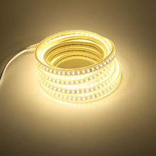 IP67 Waterproof LED Strip Light AC 220 V 5730 120 led/m with EU Power Cord 4000K 6000K 3000K Warm / Cold White