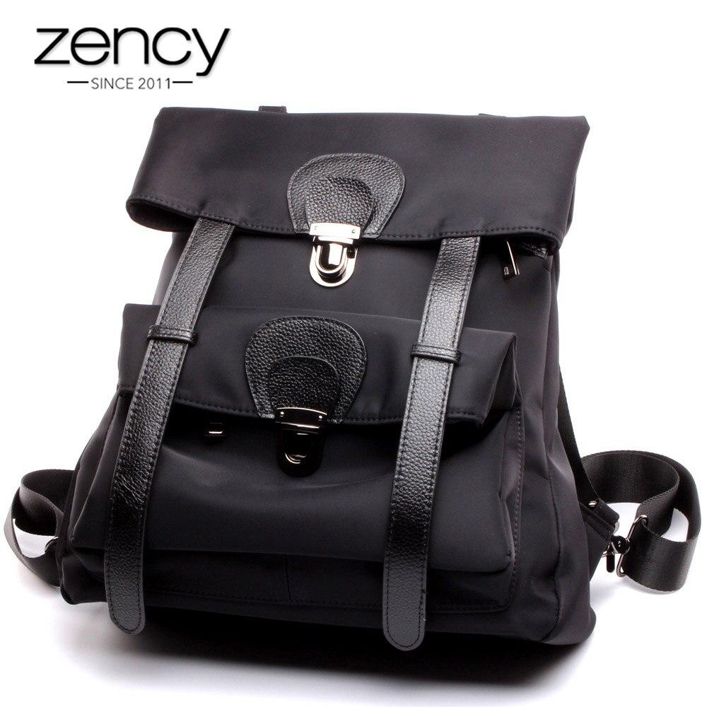 Zency مكافحة سرقة النساء على ظهره عالية الجودة أكسفورد الفتيات المدرسية قدرة كبيرة قماش الحقيبة اليومية عارضة السفر حقيبة أسود-في حقائب الظهر من حقائب وأمتعة على  مجموعة 1