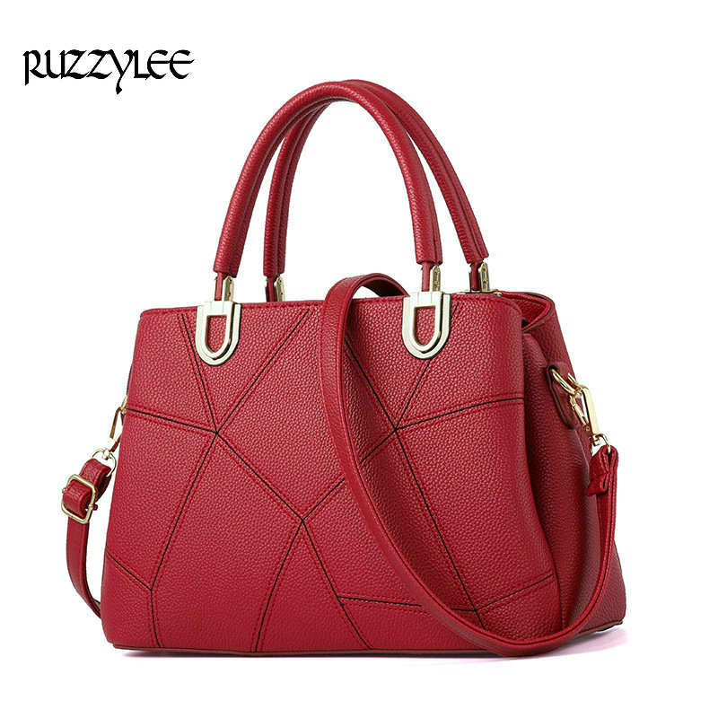 RUZZTYLEE New Women Handbag Satchels Women's Shoulder bag Female Leather Ladies 2016 Brand Womens Messenger Crossbody Bags LH080 bromen crossbody bags for women leather handbags pvc printing satchels ladies shoulder messenger bag brand design dames tassen