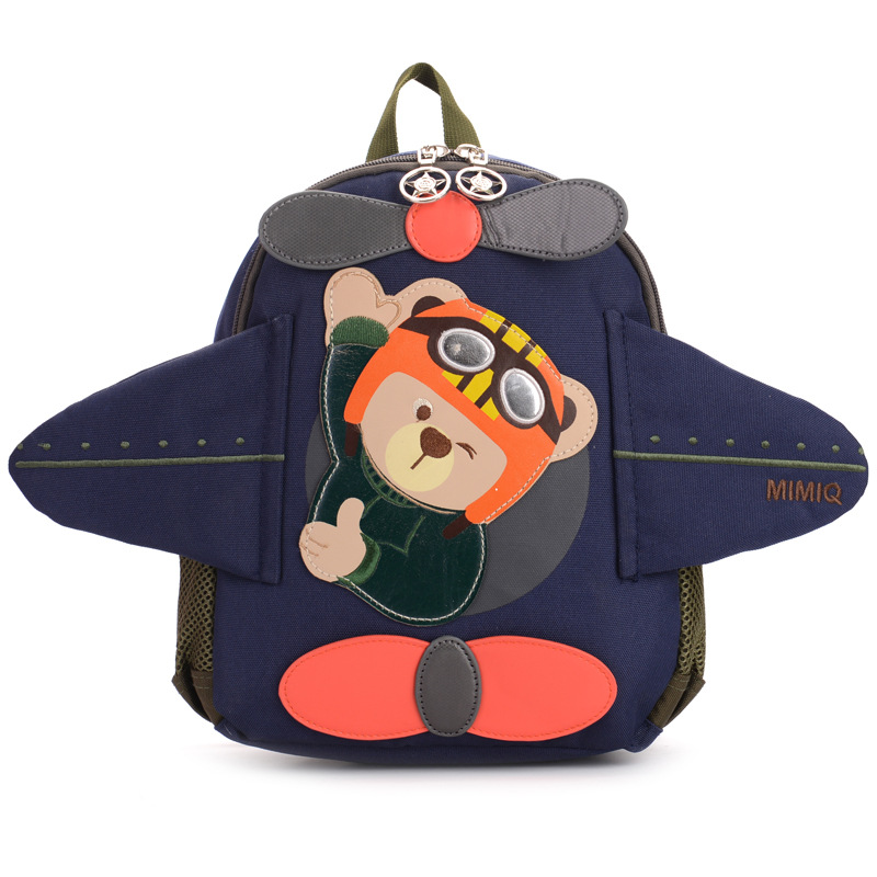 2018 Cute kindergarten Backpacks Kids children School Bags boys Cartoon Bear Canvas Backpacks kdis Mini Baby Toddler Book Bags