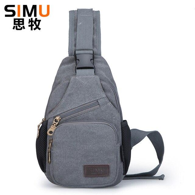 Simu Chest Bag Canvas Men Female Sling Large Capacity Handbag 2017 Hot Ing Crossbody