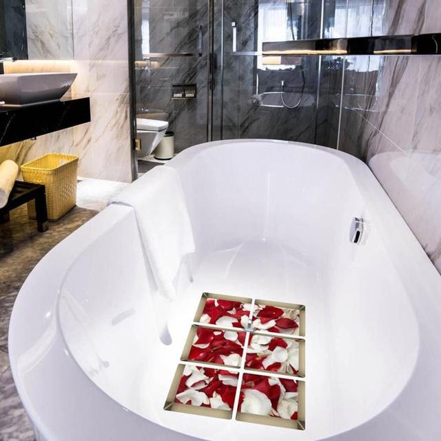 6 Teile/satz Badezimmer Aufkleber 3D Anti Rutsch Wasserdichte Badewanne  Wandaufkleber Rosenblätter Bad