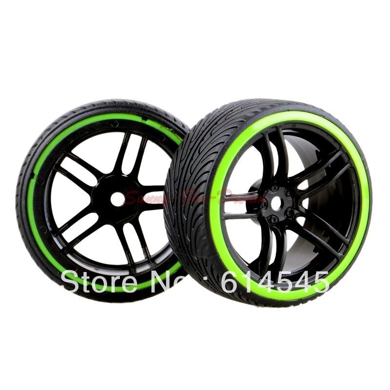 4PCS RC Car 1:10 On-Road Drift Wheel Rims & Tyre Tires Fit HSP HPI 9065-5010