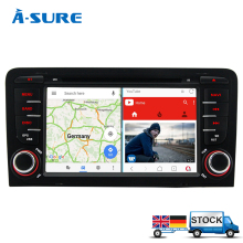 A-Sure 2GB RAM Free Map Android 7.1 Car DVD GPS For Audi A3 S3 RS3 2002-2011 With Wifi 3G GPS Navigation BT Radio SWC OBD DAB+