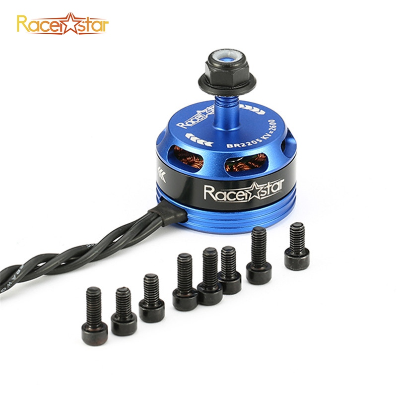 Free Shipping Racerstar Racing Edition 2205 BR2205 2600KV 2-4S Brushless Motor CW CCW Dark Blue For QAV250 ZMR250 RC Racer Drone купить в Москве 2019