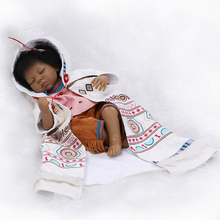 20 inch 53 cm Silicone baby reborn dolls, lifelike doll reborn babies toys for girl princess gift brinquedos  Children's toys!