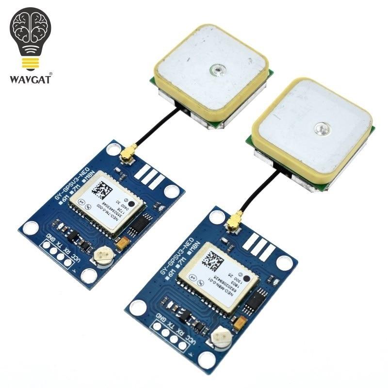 WAVGAT APM2.5 NEO-6M NEO-M8N NEO-M7N-0-000 GPS Module GYGPSV1-8M 3-5V GYGPSV5-NEO For Pixhawk APM