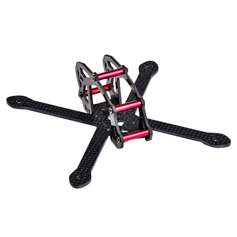 HJ-150X 150mm Wheelbase 2mm Arm Carbon Fiber RC Drone FPV Racing Frame Kit 35g DIY Multirotor Body For Motor ESC Prop Accs global eagle 2 4g 480e dfc 9ch rc helicopter remote 3d drones rtf set 9ch rc 1700kv motor 60a esc carbon fiber body