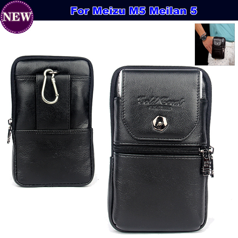 Waist Bag Belt Wallet Universal Pouch Case For Meizu M5 Meilan 5 Flip Cover Leather Phone