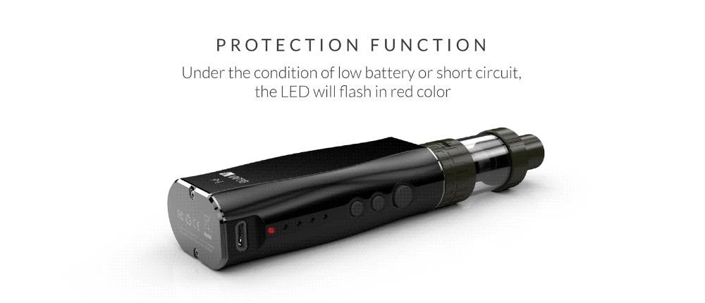 , Vape KIT Vaptio P1 50w electronic cigarette 2100mAh Vape pen Built in box mod 2mL clearomizer e cigarette kit (OCC Coil) 0.2ohm