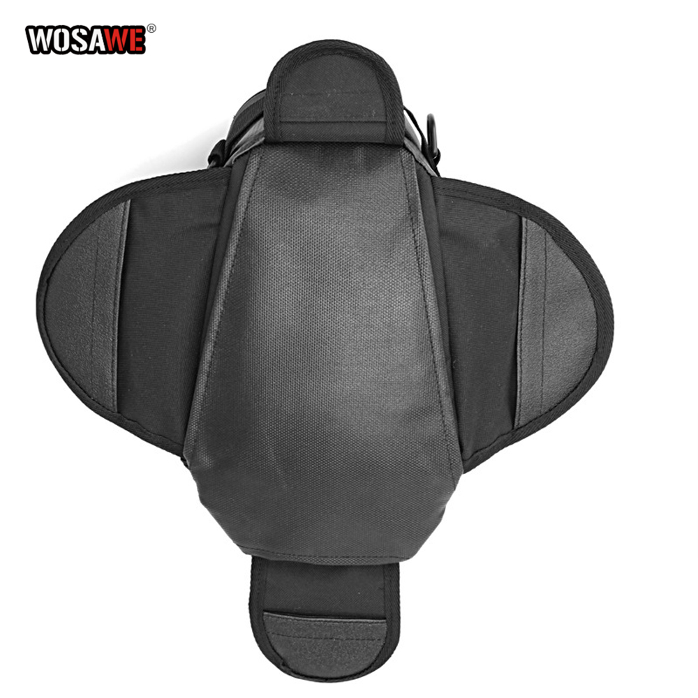 Image 3 - WOSAWE Motorcycle Tank Bags Magnetic Cell Phone GPS Navigation oil Tank Bag Fixed Straps Shoulder Bag Tail Bag With Rain Cover-in Tank Bags from Automobiles & Motorcycles
