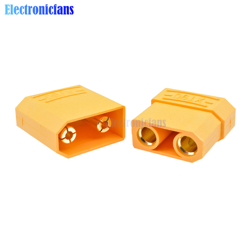 1Pair XT90 Gold Plated Male Female Banana Plug <font><b>4.5mm</b></font> Yellow Battery <font><b>Connector</b></font> Set Electronic Accessories image