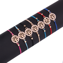 Tree Of Life Charm Waxed Thread Braided Bracelet Woman Man 2