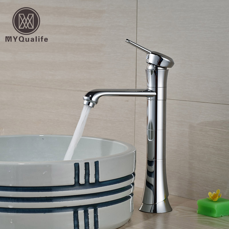 New Design Tall Brass Basin Faucet Deck Mount Single Handle/hole Bathroom Countertop Mixer Taps deck mount countertop bathroom kitchen faucet single handle tall basin sink mixer taps oil rubbed bronze