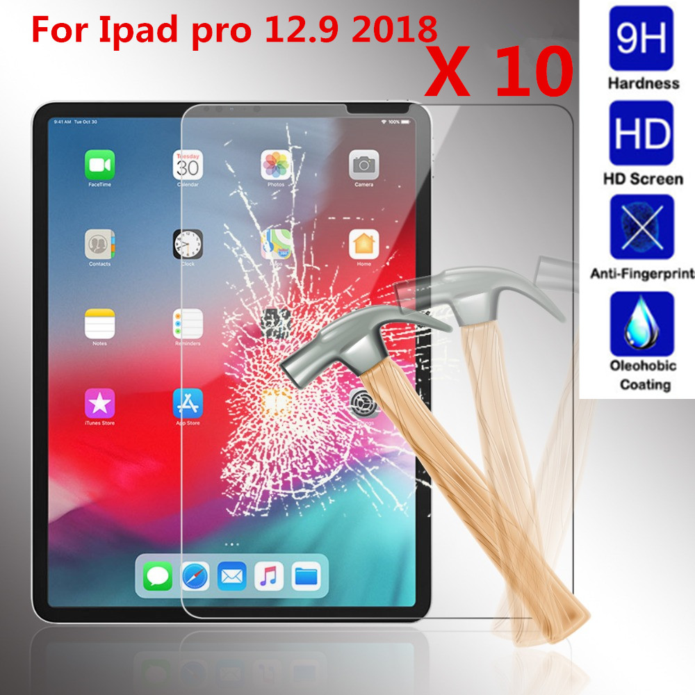 10 Pieces a Pack For Apple ipad pro 12 9 2018 Tempered Glass Screen Protector 9H