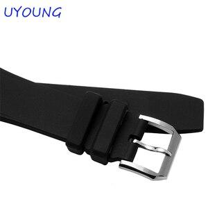 Image 4 - 품질 실리콘 시계 밴드 26*16mm 블랙 시계 액세서리 iw378203 iw354807 스트랩