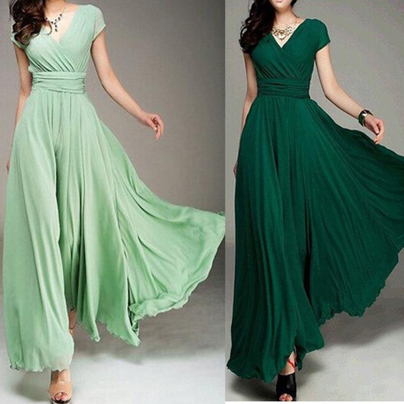 Recién Llegado Damas De Honor Vestidos Largos Menta Verde V