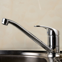 Zinc Alloy Pull Out Kitchen Faucet Mixer Tap Kitchen Sink Dish Basin Faucet Chrome Rotated Toilet