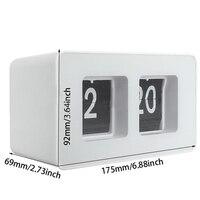 Relógio De Mesa Retro Auto Flip Clock 12 Horas Formato AM/PM exibição de Parede Relógio de Decoração Para Casa Relógio de Mesa Virar a Página de Viragem Clo