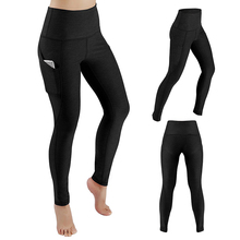 Yoga Pants With Pockets S-XL Women Sport Leggings Jogging Workout Running Leggings Stretch High Elastic Gym Tights Women Legging yoga pants women running tights s xl sport fitness leggings stretching slimming hip up gym tights flower jogging workout pants
