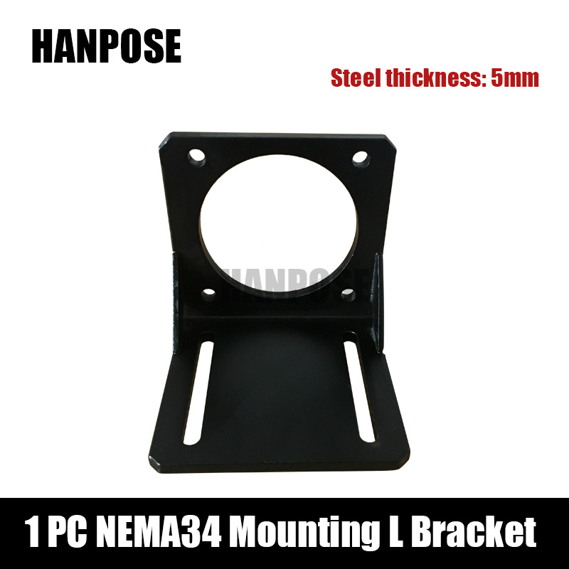 Free shipping 1pcs Nema 34 Stepper Motor mounting L bracket Nema34 motor free shipping 4pcs lot nema 23 mounting l bracket mount stepper motor bracket for cnc machine