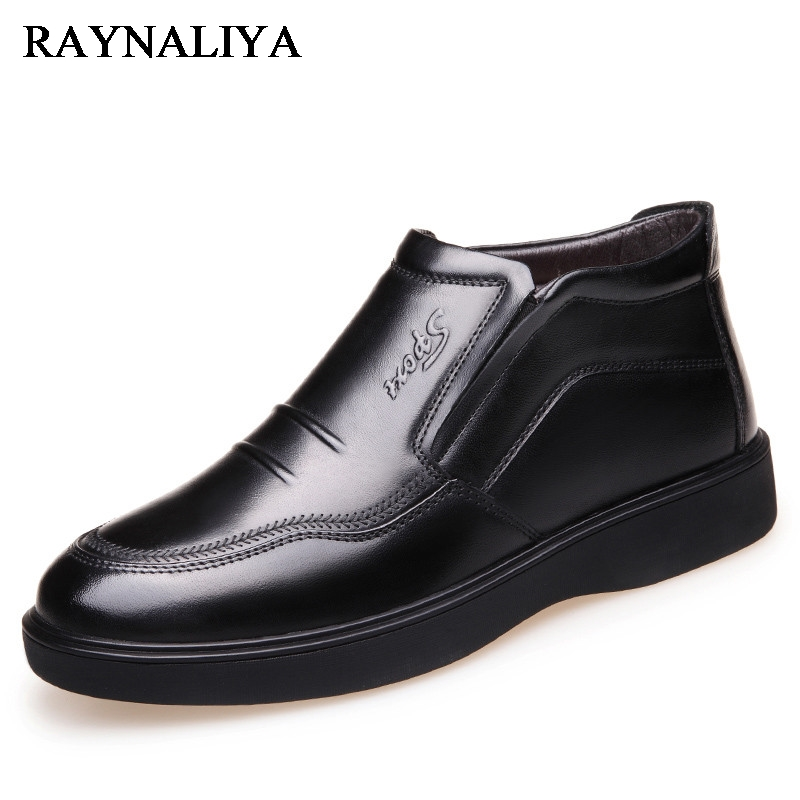 Winter Plus Velvet Causal Men Shoes Genuine Leather Comfortable Mens High-Quality Hot Sale Vintage Fashion Shoes BH-A0020
