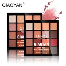 QIAOYAN 16 Color Eye Shadow Palette Matte Glitter Pigmented Eyeshadow Waterproof