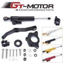 GT موتور شحن مجاني لكاواساكي Z1000 2010 2013 ليس ل Z1000SX الألومنيوم المقود المثبط جبل قوس عدة