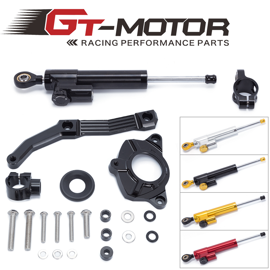 GT moteur-livraison gratuite pour KAWASAKI Z1000 2010-2013 pas pour Z1000SX Aluminium stabilisateur de direction amortisseur support Kit