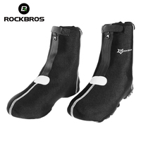 ROCKBROS Mountain Road Bike Outdoor Sports Cycling Shoe Cover Warm Cover Waterproof Protector Overshoes Black