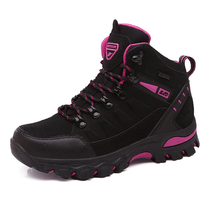 Winter Outdoor hiking shoes women waterproof non slip climb mountain trekking mujer Unisex Walking shoes warm men size 35 45Hiking Shoes   -