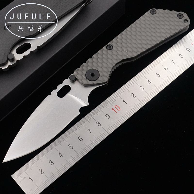JUFULE 2019 SNG Titanium / carbon fibre handle D2 blade Copper washer Folding hunt camping outdoor EDC Tool multi kitchen knifeJUFULE 2019 SNG Titanium / carbon fibre handle D2 blade Copper washer Folding hunt camping outdoor EDC Tool multi kitchen knife