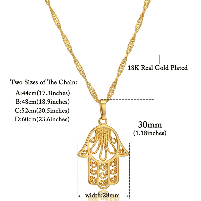 Hamsa Hand Necklace For Women Collares Classic Arabic Necklace - Fashion Jewelry - Photo 2
