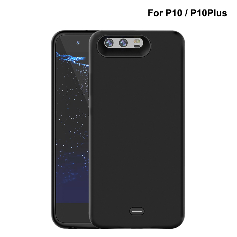 5500mAh <font><b>Battery</b></font> <font><b>Case</b></font> For <font><b>HUAWEI</b></font> <font><b>P10</b></font> P10Plus External Power bank Charger TPU Frame Phone cover <font><b>Case</b></font> for <font><b>P10</b></font> Plus image