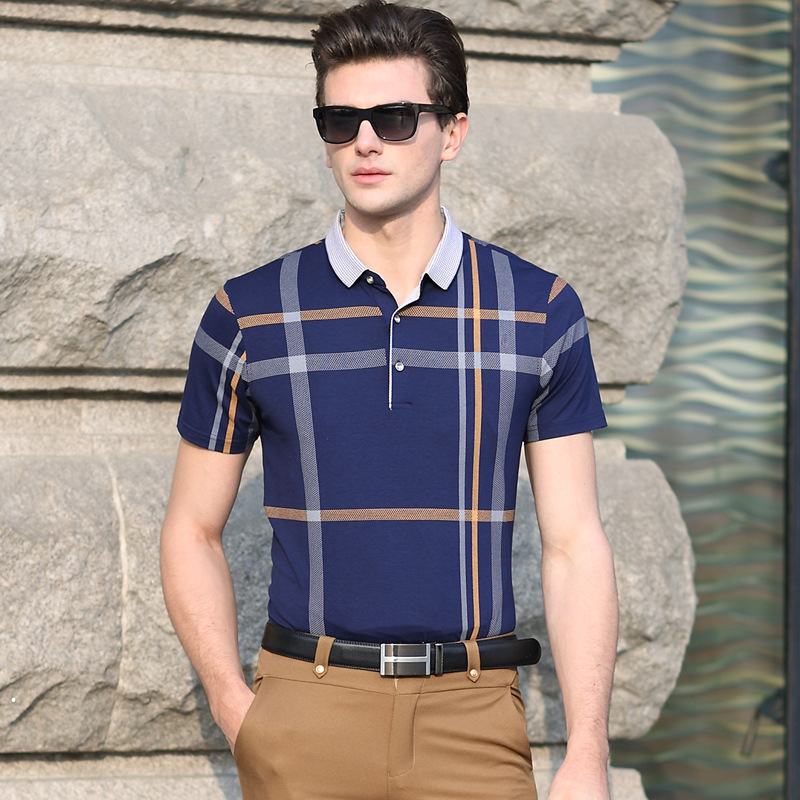 2016-Summer-Men-Polo-Shirts-Plaid-Patchwork-Short-Sleeve-Cool-Mercerized-Cotton-Slim-Fit-Casual-Business (4)