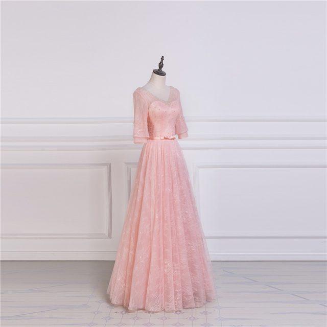 Tienda Online Ruthshen vestido de noche largo 2018 v-cuello media ...