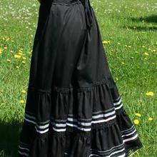 Модное хлопковое бальное платье в пол; ; длинные юбки в викторианском стиле; Цыганская юбка
