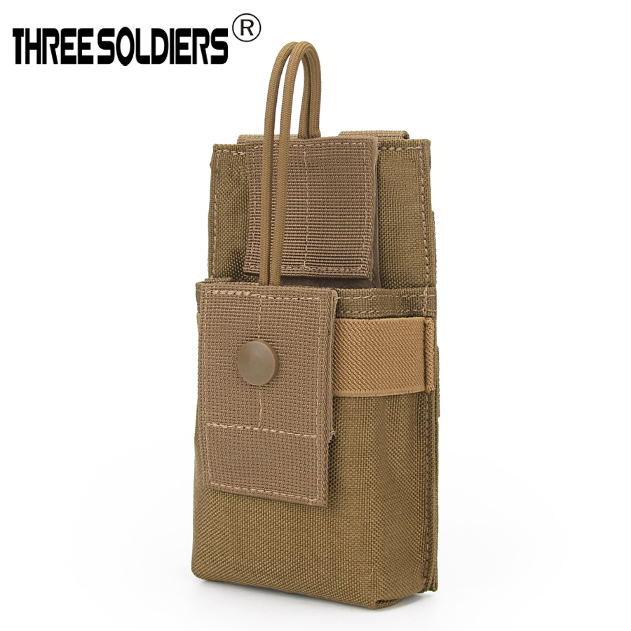 Adjustable Nylon Tactical Molle Radio Case Holder Holster Open Top Pouch New US