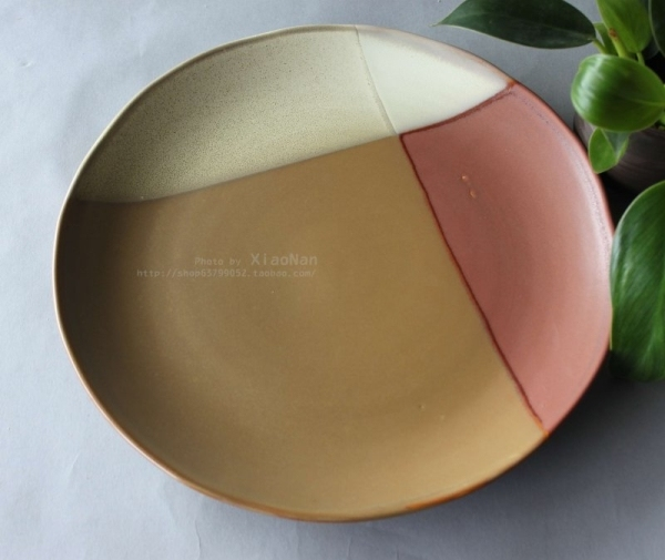 Ceramic tableware sango compotier western dish flat plate table large