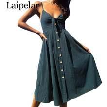 Женское пляжное платье в горошек laipelar Красное/белое хлопковое