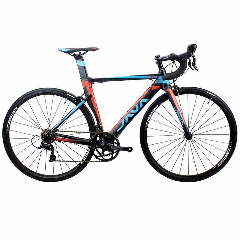 2017 JAVA SILURO 700C Telaio In Alluminio Della Bici Della Strada con Forcella In Carbonio SORA 3000 18 Velocità Aero Bicicletta Da Corsa