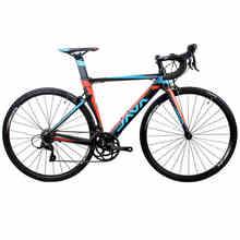 2017 JAVA SILURO Marco con un Tenedor De Carbono 700C Bicicleta de Carretera De Aluminio S H I M A N O SORA 3500 18 Velocidad de Carreras de ruedas Aero bicicleta