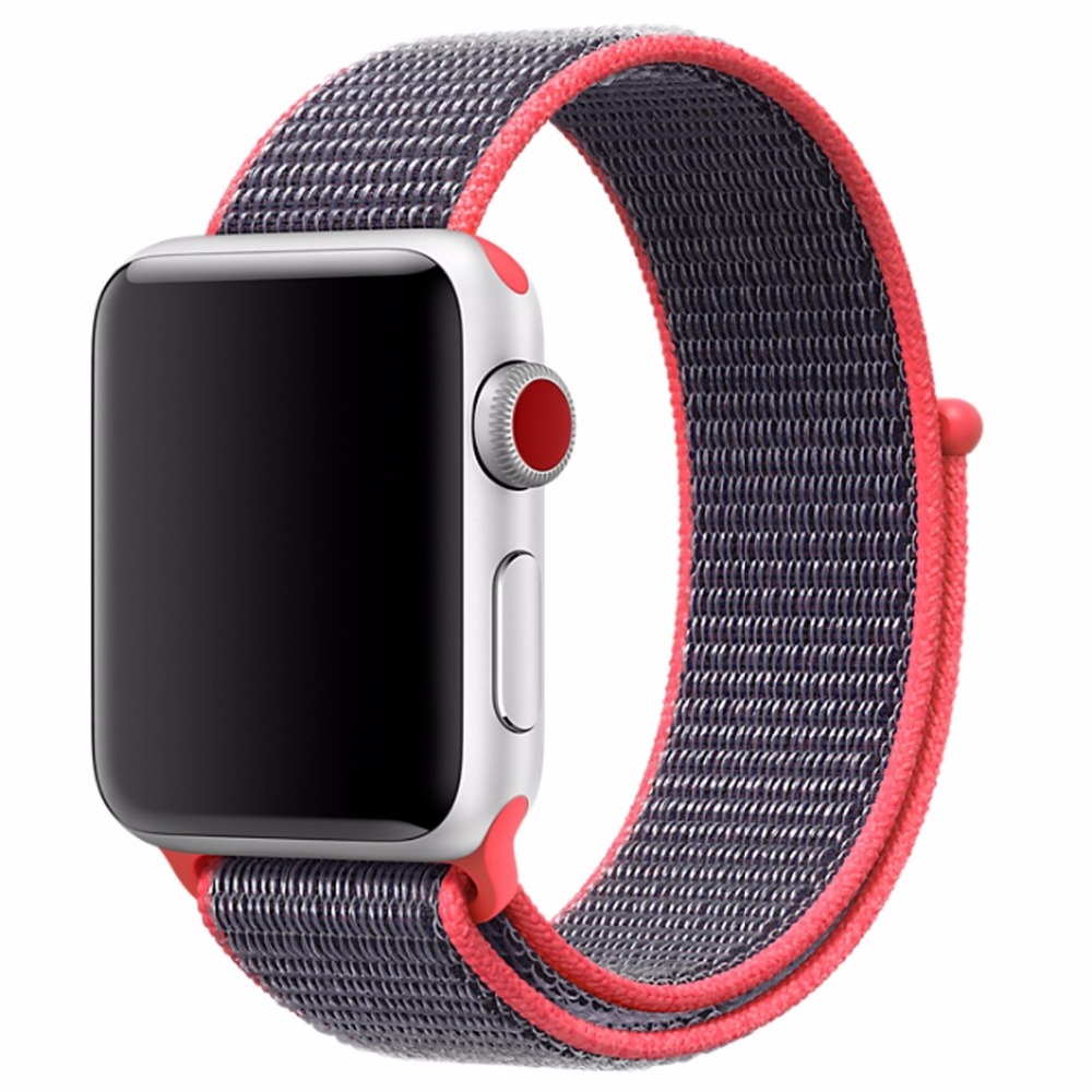 Image 3 - Nylon woven Strap for iwatch 3 38mm 40mm band 42mm 44mm watch band for i watch 4 replacement strap-in Smart Accessories from Consumer Electronics
