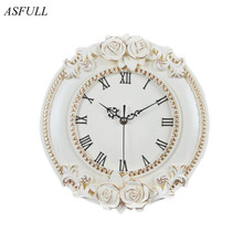 ASFULL の創造的なヨーロッパの装飾的な壁時計静かな部屋ホテルルレ DellOrologio レストラン腕時計 saat 送料無料
