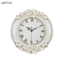 ASFULL of a creative European decorative wall clock quiet room Hotel Relais Dell'Orologio restaurant watch saat free shipping