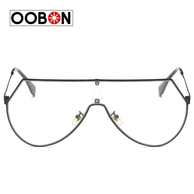 2017 New Classic Square Sunglasses Men Women Brand Designer Rectangle Flat Frame Transparent lens Sunglasses Female Male Eyewear